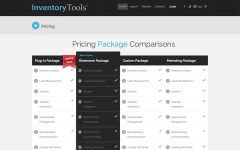 Screenshot of Pricing Page inventory-tools.com - Inventory Tools - Subscription Pricing - captured Oct. 1, 2018