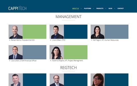 Screenshot of Team Page cappitech.com - - - captured July 15, 2018