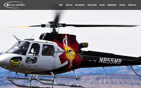 Screenshot of Home Page eagleairmed.com - EAM | Eagle Air Med - captured Sept. 29, 2014