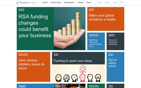 Screenshot of Home Page scottish-enterprise.com - Business advice and support for Scotland's growing businesses | Scot - captured Oct. 24, 2015