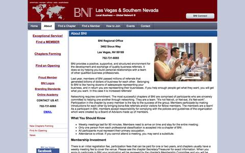 Screenshot of About Page bnilasvegas.com - Las Vegas & Southern Nevada - About - captured Oct. 4, 2014