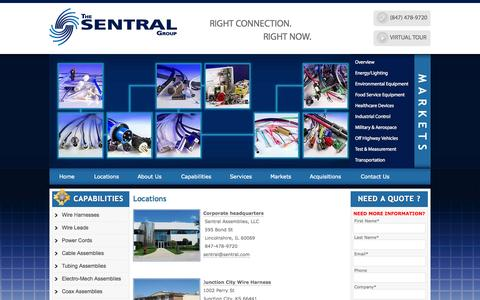 Screenshot of Locations Page sentral.com - Locations | The Sentral Group - captured Oct. 9, 2014