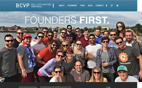 Screenshot of Home Page bcvp.com - Bull City Venture Partners - captured Feb. 8, 2016