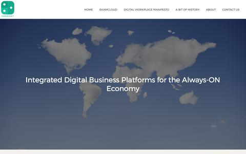 Screenshot of Home Page cordiant.com - Integrated Digital Business Platforms for the Always-ON Economy | Cordiant - captured Aug. 28, 2017