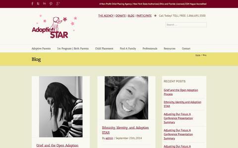 Screenshot of Blog adoptionstar.com - Articles | Adoption STAR - captured Sept. 30, 2014