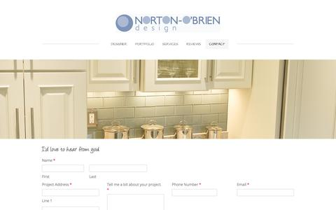 Screenshot of Contact Page weebly.com - Contact - Norton-O'Brien interior design - captured Sept. 21, 2018