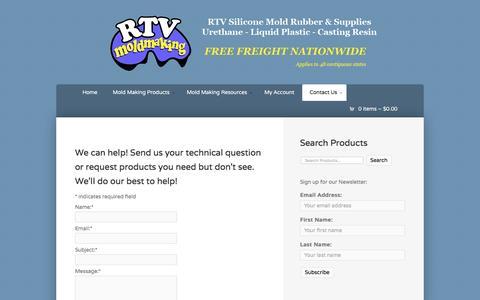 Screenshot of Contact Page rtvmoldmaking.com - Contact Us - RTV Mold Making - captured Aug. 15, 2016