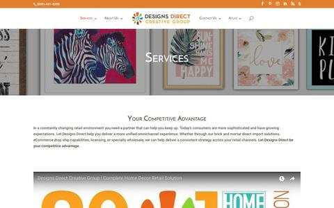 Screenshot of Services Page designsdirectllc.com - Services | Designs Direct Creative Group - captured Aug. 6, 2018