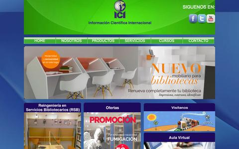 Screenshot of Home Page iciweb.com.mx - Información Cientifica Internacional - captured Oct. 6, 2014