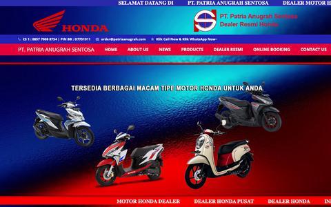 Screenshot of Home Page patriaanugrah.com - Dealer HONDA PUSAT - DEALER HONDA - Dealer MOTOR HONDA - captured Sept. 27, 2018