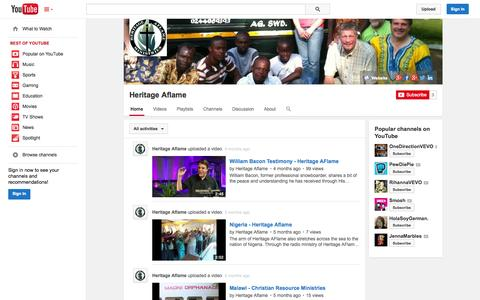 Screenshot of YouTube Page youtube.com - Heritage Aflame  - YouTube - captured Oct. 22, 2014