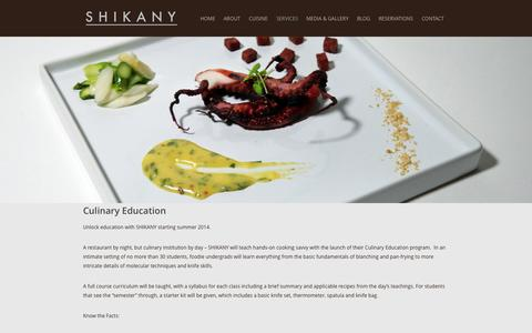 Screenshot of Services Page shikany.com - SERVICES |  SHIKANY - captured Sept. 30, 2014