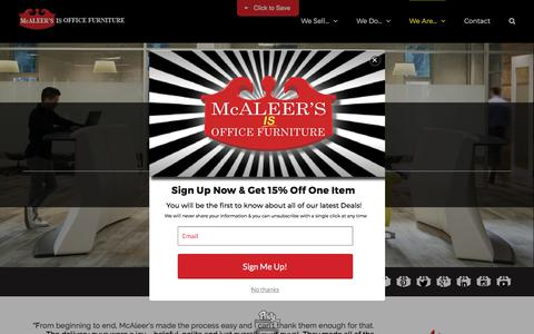 Screenshot of Testimonials Page mcaleers.com - Testimonials - McAleer's Office Furniture - captured Oct. 17, 2017