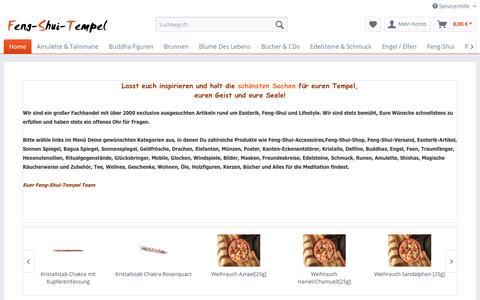 Screenshot of Home Page feng-shui-tempel.de - Feng Shui Shop + Feng Shui Versand. Alle Artikel rund um Feng-Shui   Feng-Shui-Tempel - captured April 2, 2017