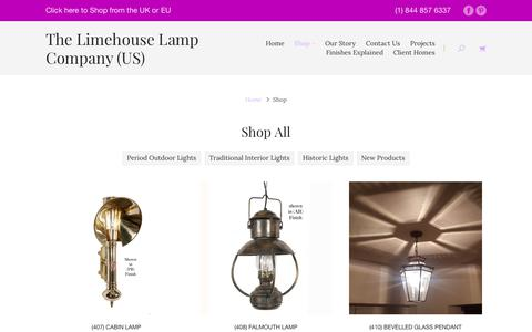 Screenshot of Products Page limehouselighting.com - Products | The Limehouse Lamp Company - captured July 6, 2017