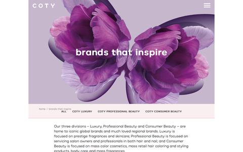 brands that inspire | coty.com