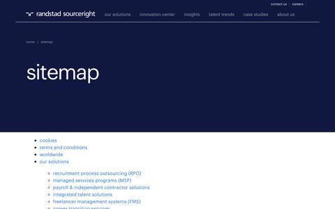 Site map | Randstad Sourceright