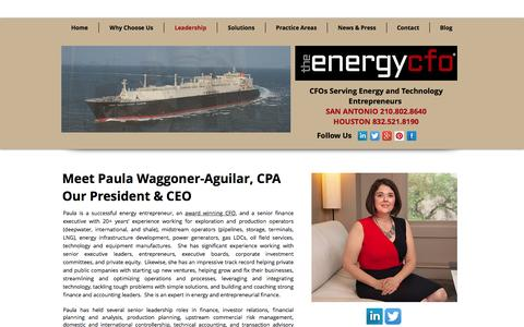 Screenshot of Team Page theenergycfo.com - Leadership | The Energy CFO - captured Nov. 30, 2016