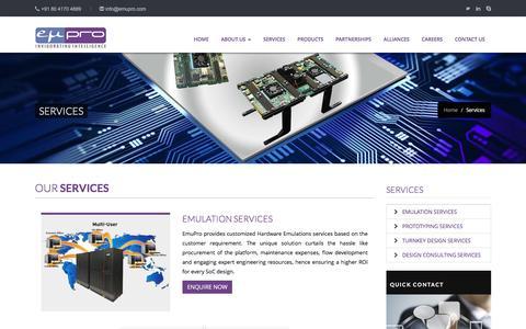 Screenshot of Services Page emupro.com - EmuPro - Product Innovation & Design Consulting - captured Nov. 8, 2016