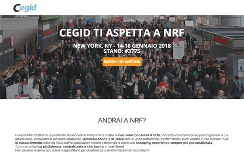 Screenshot of Landing Page cegid.com - NRF 2018 - Cegid - captured Sept. 20, 2018