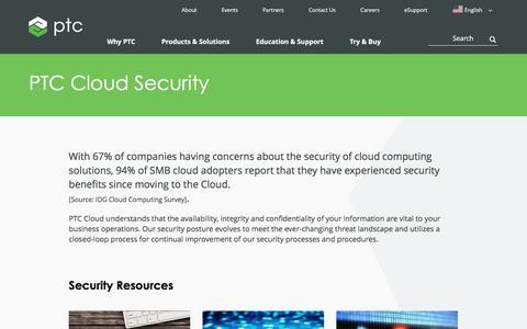 PTC Cloud Security   PTC