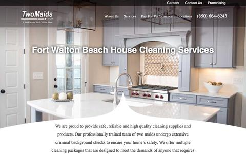 Screenshot of Services Page ineedamaid.com - Destin House Cleaning Services - captured Dec. 2, 2016