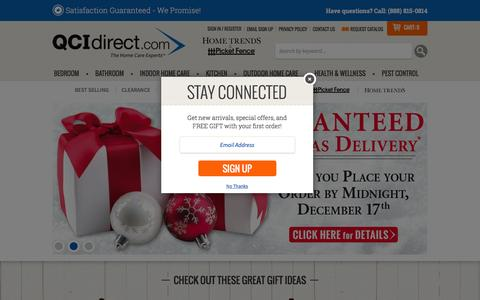 Screenshot of Home Page qcidirect.com - QCI Direct - Home Trends, Picket Fence and Sleep Solutions Catalog - captured Dec. 6, 2015