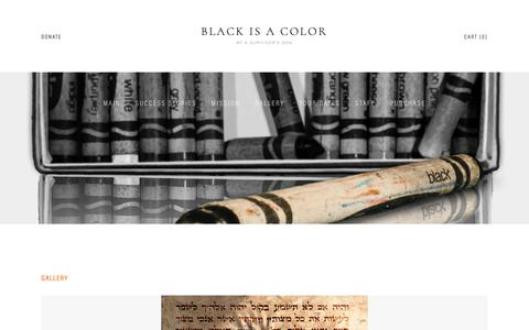 Screenshot of Press Page blackisacolor.com - Gallery — Black is a Color - captured Nov. 6, 2018