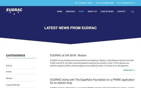 Screenshot of Press Page eudrac.com - EUDRAC   Latest news from EUDRAC - captured July 15, 2018