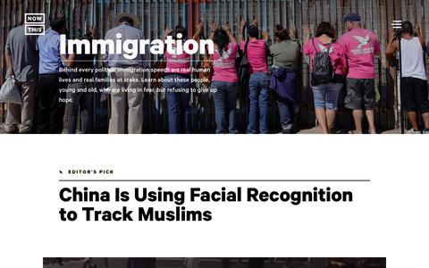 Screenshot of nowthisnews.com - Immigration: Border Protection, Deportation & Immigation News & Videos - NowThis - captured Jan. 22, 2018