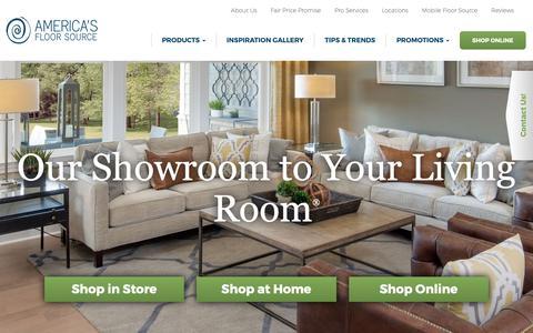 Screenshot of Home Page americasfloorsource.com - Flooring Store Columbus, OH - Carpet - Vinyl - Tile - America's Floor Source - captured June 14, 2019