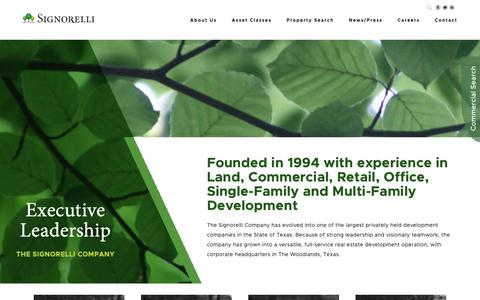 Screenshot of Team Page signorellicompany.com - Leadership | Meet the Team | The Signorelli Company - captured Nov. 17, 2018