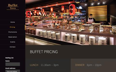 Screenshot of Pricing Page buffettown.com.sg - Pricing – Buffet Town - captured Jan. 24, 2018