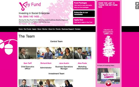 Screenshot of Team Page thekeyfund.co.uk - The Key Fund - Flexible grants, loans & equity packages for voluntary & community organisations, charities, co-operatives & social enterprises - Yorkshire - captured Oct. 6, 2014