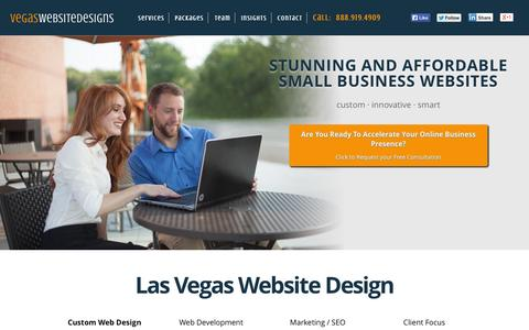 Screenshot of Home Page 21stwebdesigns.com - Las Vegas Website Design & Web Development | LV Nevada - captured Sept. 19, 2014