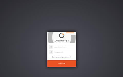Screenshot of Login Page origamilogic.com - Sign In with Auth0 - captured June 9, 2019