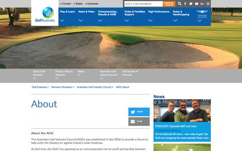 Screenshot of About Page golf.org.au - About - Golf Australia - captured Sept. 13, 2018