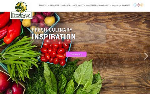 Screenshot of Home Page freshwayfoods.com - Freshway Foods - captured Jan. 8, 2016