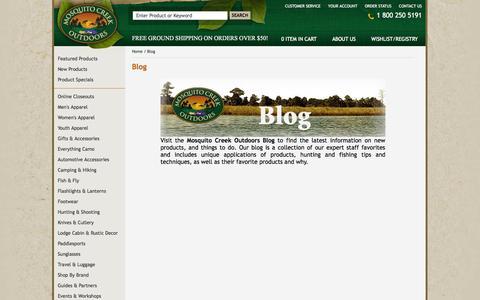 Screenshot of Blog mosquitocreekoutdoors.com - Mosquito Creek Outdoors Blog - captured Oct. 26, 2014