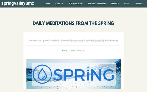 Screenshot of Press Page svumc.org - Spring Valley United Methodist Church | Daily Meditation - captured April 16, 2017