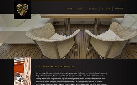 Screenshot of Services Page idealteak.com - Services - Ideal Teak -  Teak Yacht Decking - captured Sept. 30, 2014