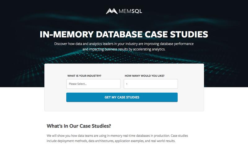 In-Memory Database Case Studies