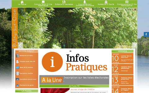 Screenshot of Home Page butry.fr - Mairie :: Officiel : Butry sur Oise : Accueil - captured Oct. 10, 2015