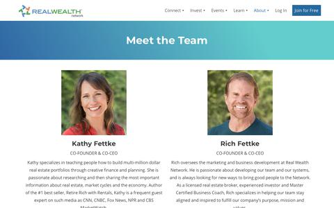 Screenshot of Team Page realwealthnetwork.com - About Real Wealth Network | Meet Our Founders & Team - captured Nov. 27, 2019