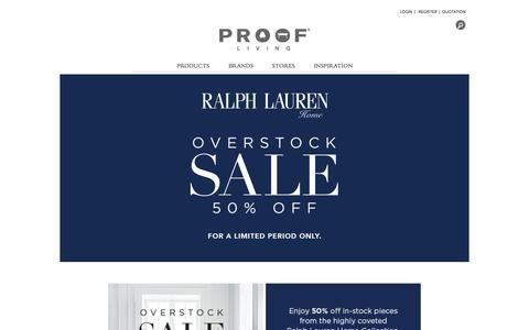Screenshot of Home Page proof.com.sg - Proof Living - captured Oct. 10, 2016