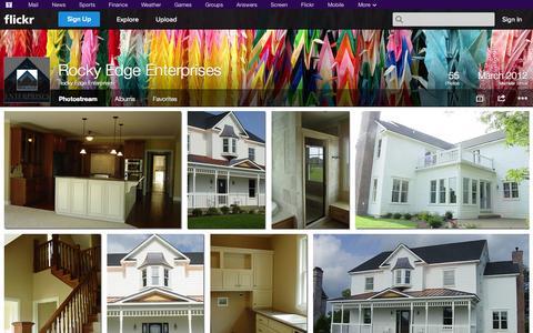 Screenshot of Flickr Page flickr.com - Flickr: Rocky Edge Enterprises' Photostream - captured Oct. 26, 2014