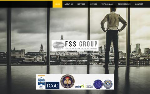 Screenshot of Home Page fieldsecurityservices.com - FSS Group - Home - captured Feb. 9, 2016
