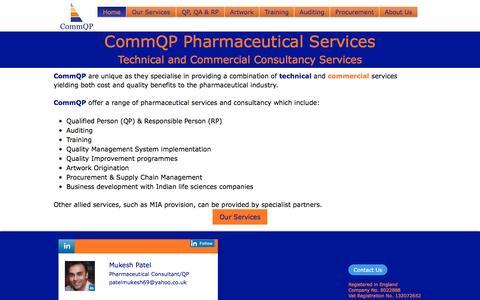 Screenshot of Home Page commqp.co.uk - CommQP Ltd. - captured Nov. 10, 2016