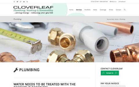 Screenshot of cloverleafmaintenance.co.uk - Plumbing experts Cloverleaf, Dartford Plumbing - captured March 20, 2016