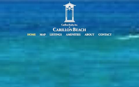 Screenshot of Home Page carillon-beach.com - The Official Carillon Beach Website - captured Jan. 25, 2016